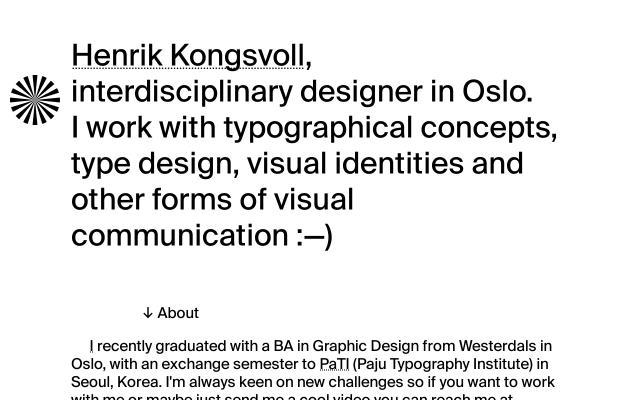 Screenshot of Henrikkongsvoll