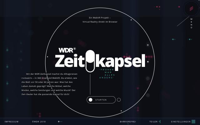 Screenshot of Zeitkapsel