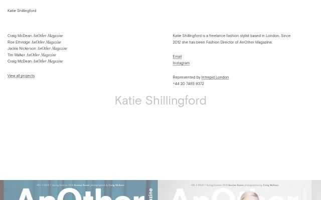 Screenshot of Katieshillingford