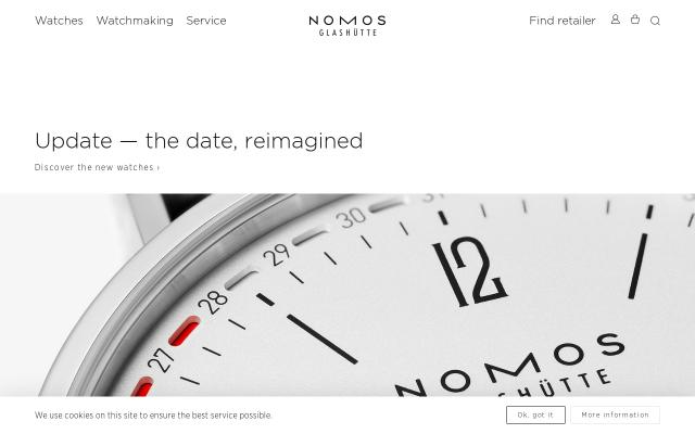 Screenshot of Nomos-glashuette