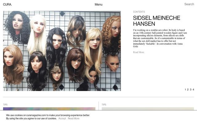 Screenshot of Curamagazine