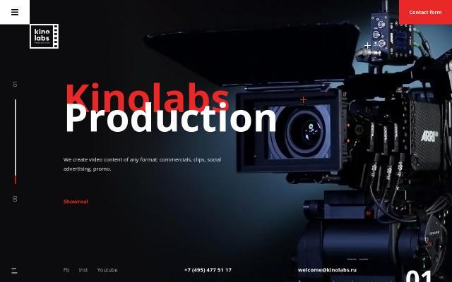 Screenshot of Kinolabs