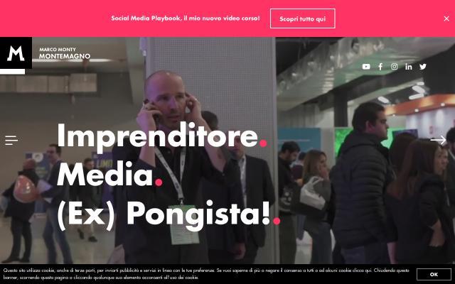Screenshot of Marcomontemagno