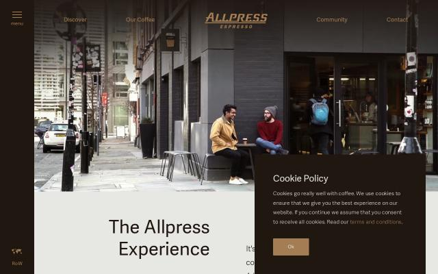 Screenshot of Allpressespresso