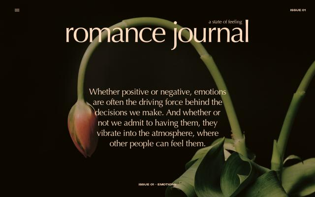 Screenshot of Romance-journal