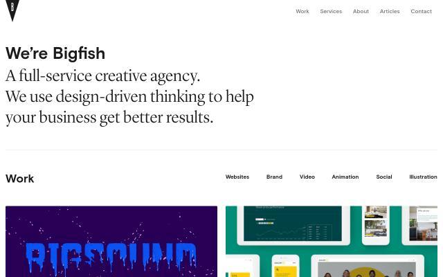 Screenshot of Bigfish