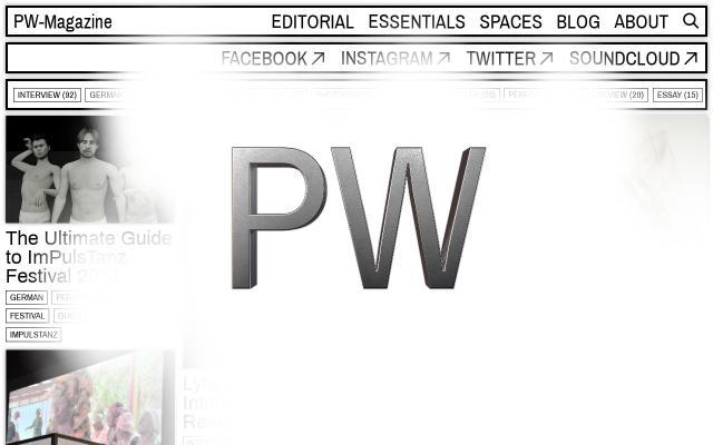 Screenshot of Pw-magazine