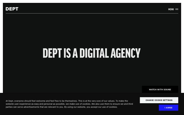 Screenshot of Deptagency