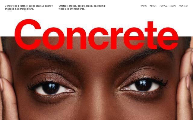 Screenshot of Concrete