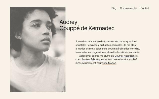 Screenshot of Audreycdk