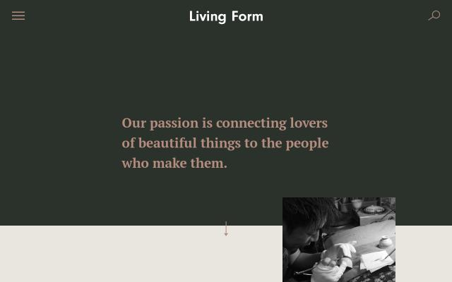 Screenshot of Living-form