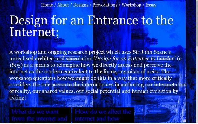 Screenshot of Designforanentrancetotheinternet