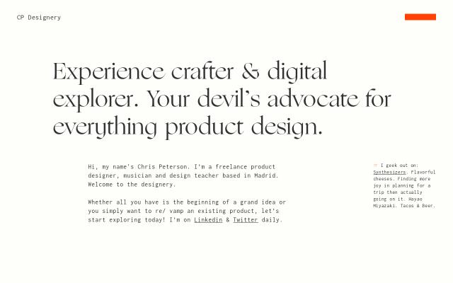 Screenshot of Cpdesignery