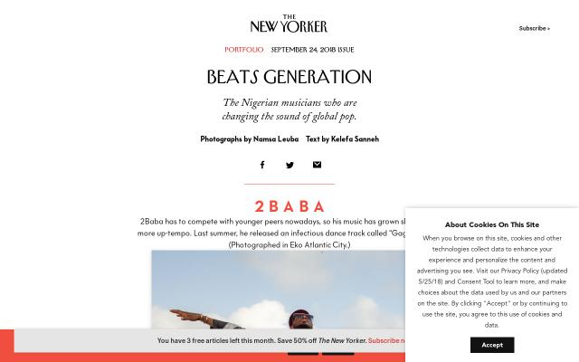 Screenshot of Newyorker