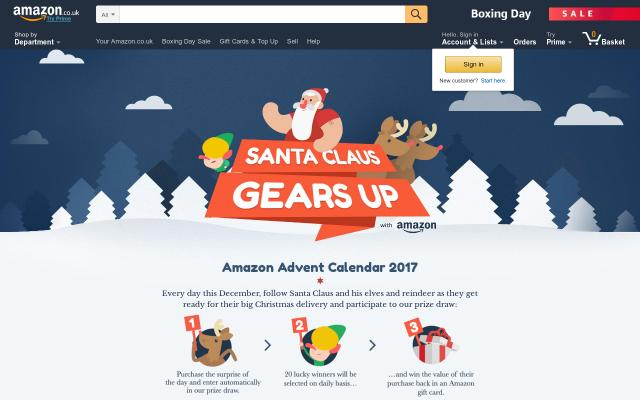 Screenshot of Amazon