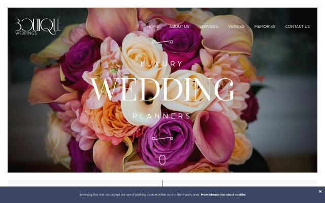 Screenshot of Boutique-weddings