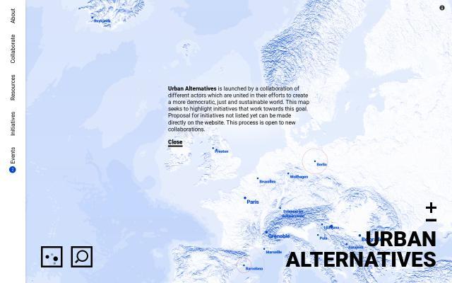 Screenshot of Urbanalternatives