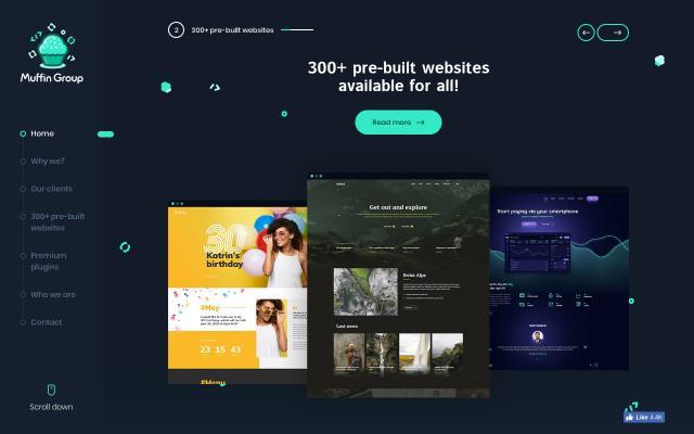Screenshot of Muffingroup