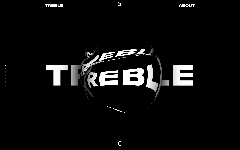 Screenshot of Studio Treble | We explore. We experiment. We excite.