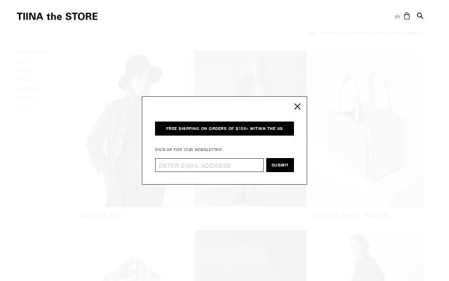 Screenshot of Tiinathestore