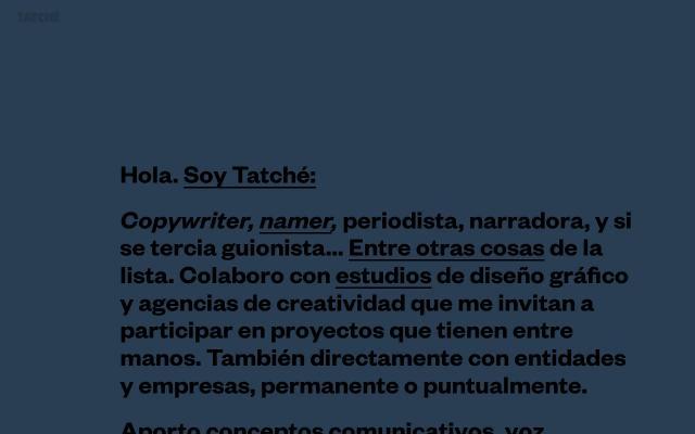 Screenshot of Tatche