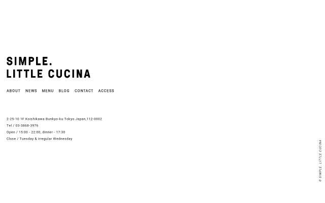 Screenshot of Littlecucina