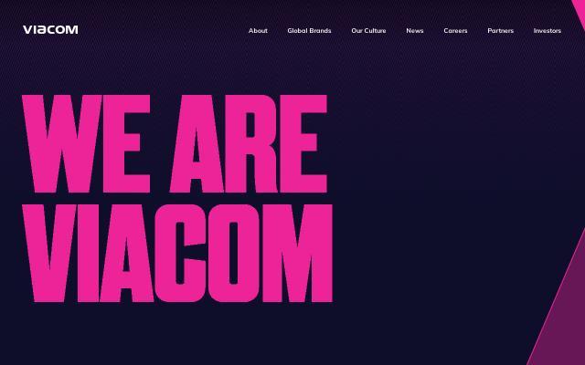 Screenshot of Viacom