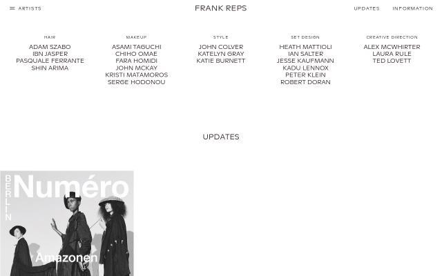 Screenshot of Frankreps