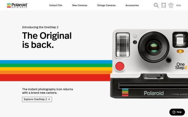 Screenshot of Polaroidoriginals