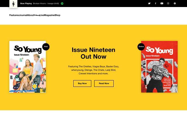 Screenshot of Soyoungmagazine