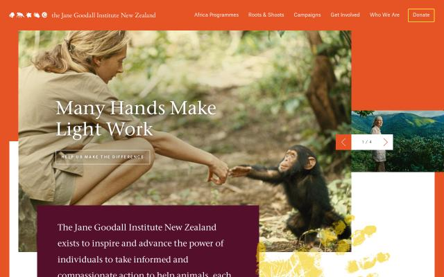 Screenshot of Janegoodall