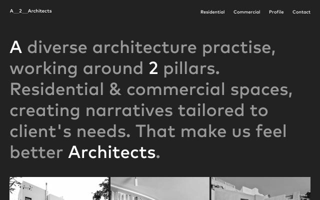 Screenshot of A2architects