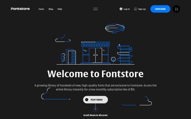 Screenshot of Fontstore