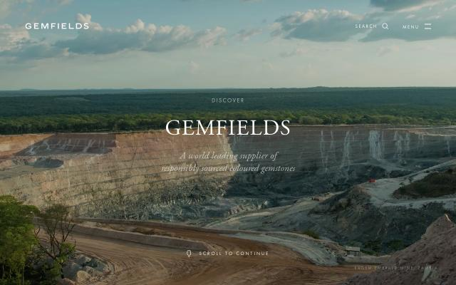 Screenshot of Gemfields