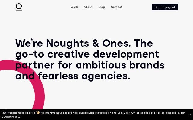 Screenshot of Noughtsandones