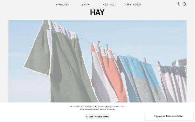 Screenshot of Hay