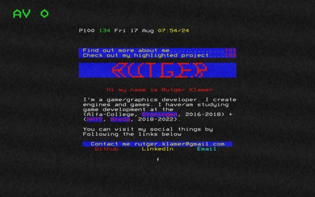 Screenshot of Rutgerklamer