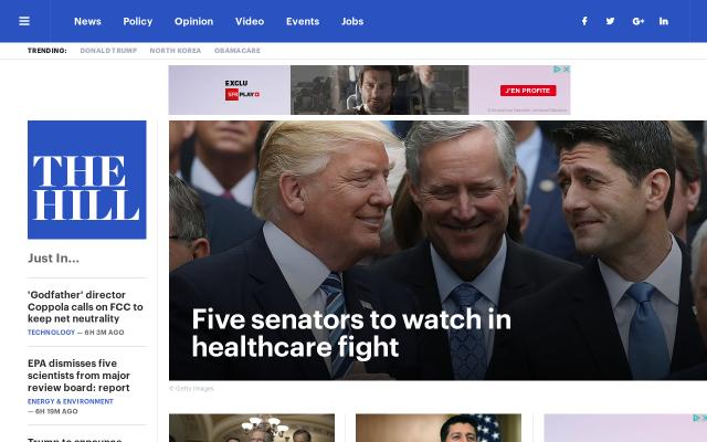 Screenshot of Thehill