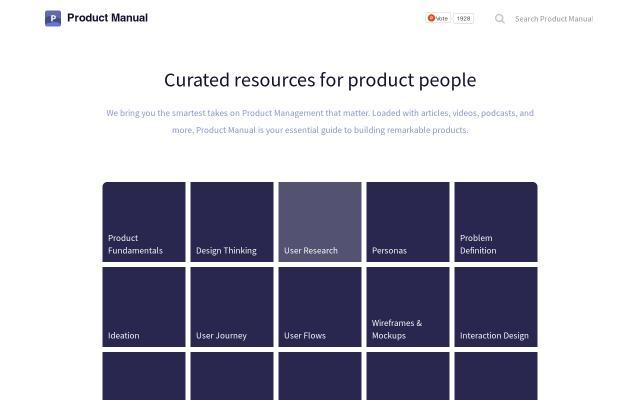 Screenshot of Productmanual