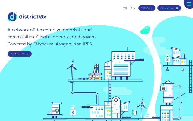 Screenshot of District0x