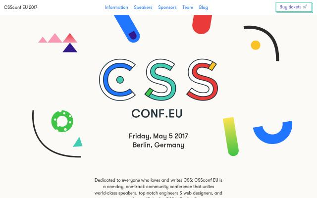 Screenshot of Cssconf