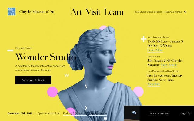 Screenshot of The Chrysler Museum of Art