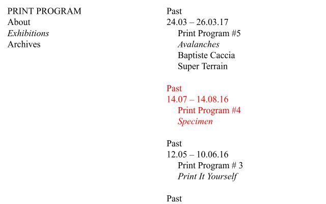 Screenshot of Print-program