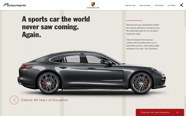 Screenshot of Theporschepanamera