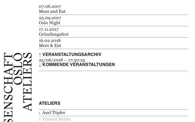 Screenshot of Oslo-ateliers