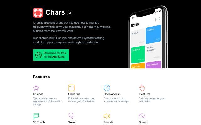 Screenshot of Chars