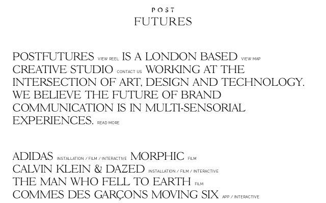 Screenshot of Postfutures