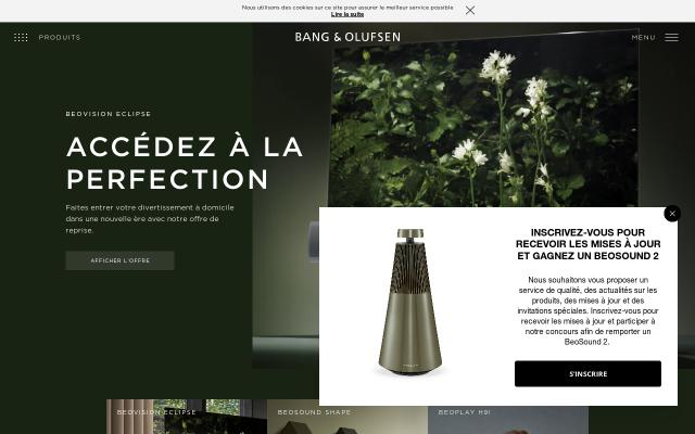 Screenshot of Bang-olufsen