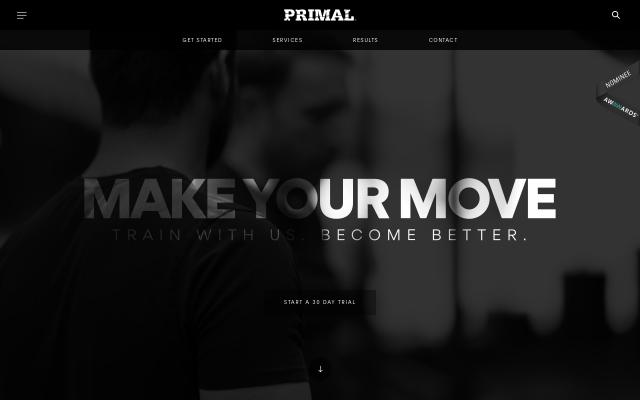 Screenshot of Primaltrainingclub