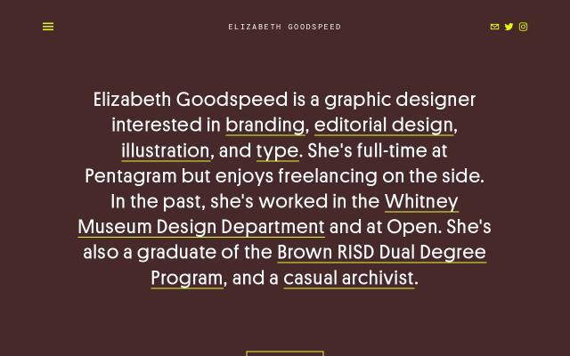 Screenshot of Elizabethgoodspeed